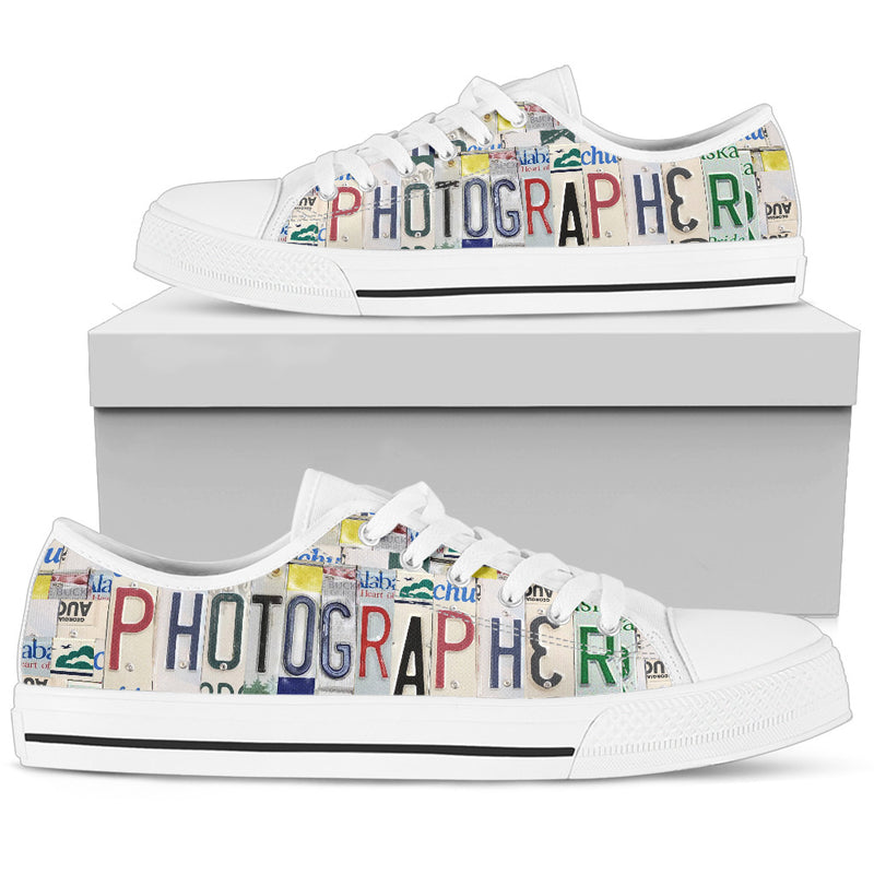 Photographer Low Top Sneakers for Women