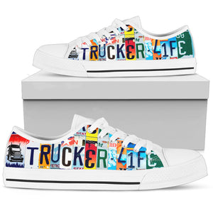 Trucker Life Low Top Sneakers for Women