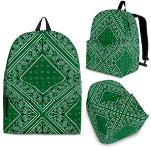 green bandana pattern bag