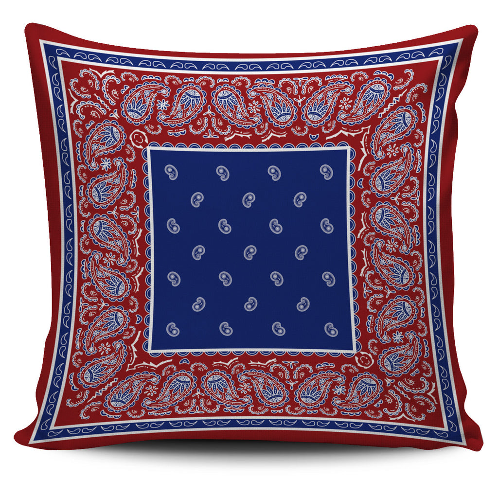 red white and blue bandana throw pillow cover