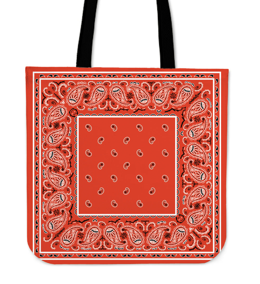 orange bandana tote bag