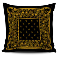 black and gold throw pillow