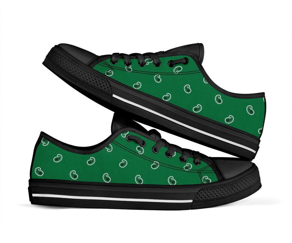 green bandana sneakers