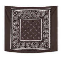 Brown Bandana Wall Art Tapestry