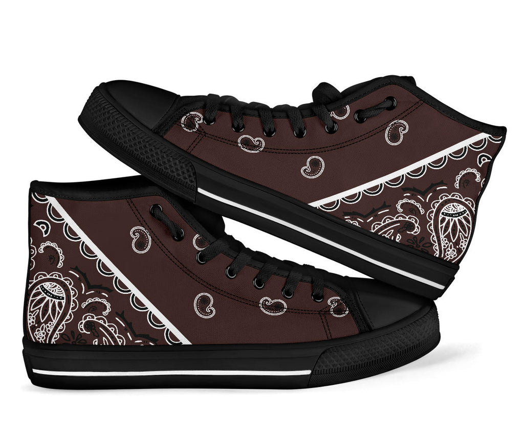brown bandana sneakers