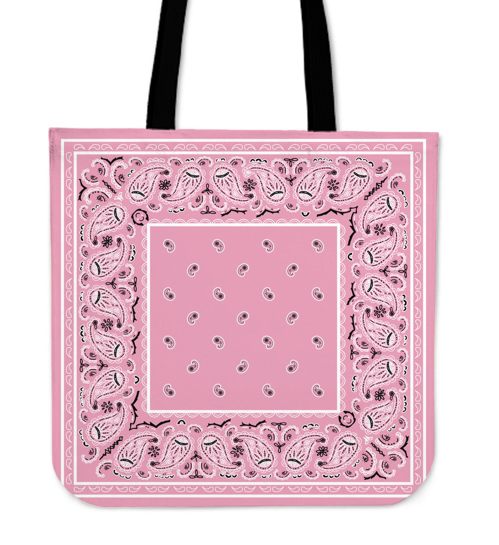 light pink bandana bags
