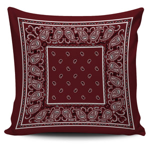 burgundy red decorative throw pillow