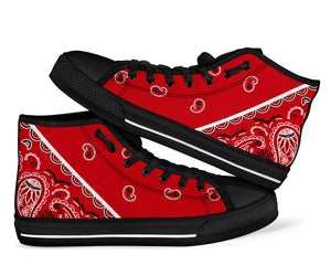 red bandana kicks sneakers