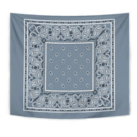 light blue bandana wall art tapestry