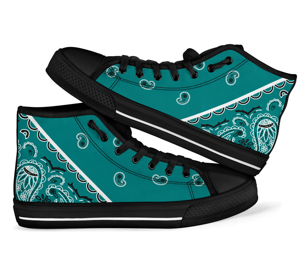 teal bandana sneakers