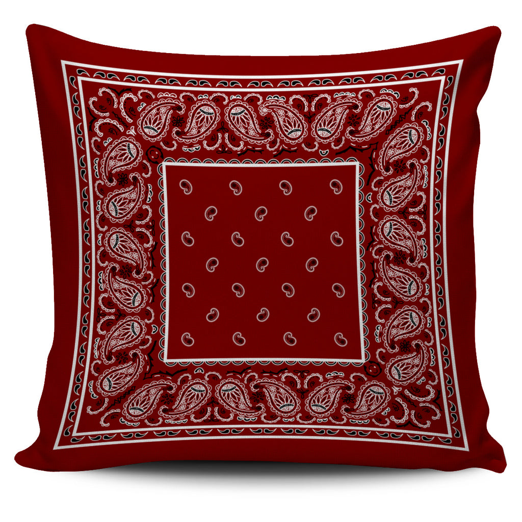 maroon bandana decorative accent pillow