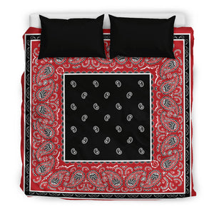 King Red and Black Duvet Cover
