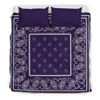 King Royal Purple Bandana Duvet Set