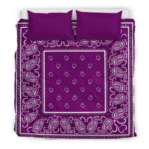 King Purple Plum Bandana Duvet Cover Set