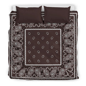 King Coffee Brown Duvet Cover Set
