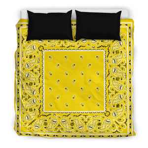 King Yellow Bandana Duvet Cover Set