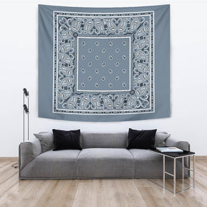 slate blue bandana wall art