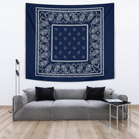 Navy Blue Bandana Tapestry