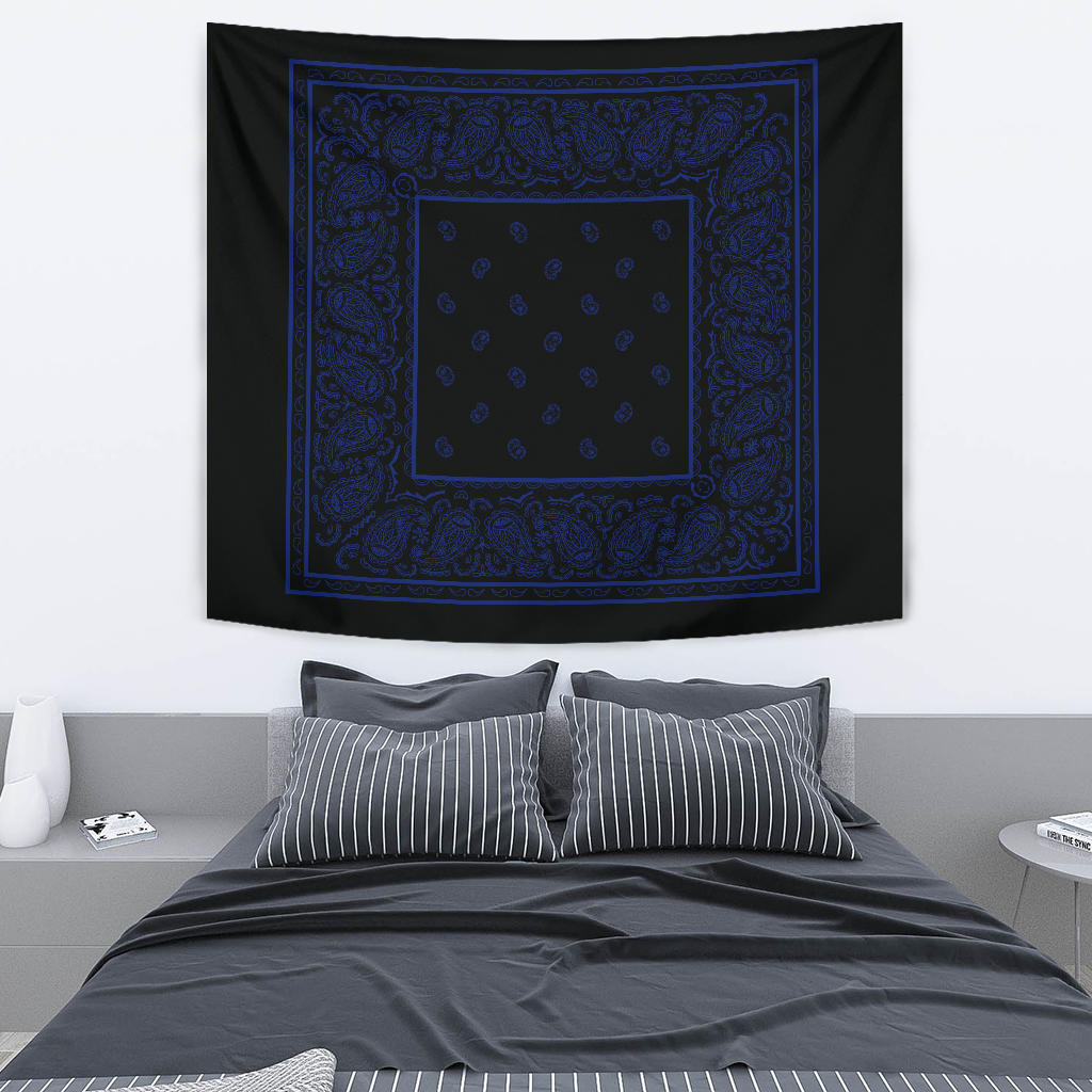 black bandana wall tapestry
