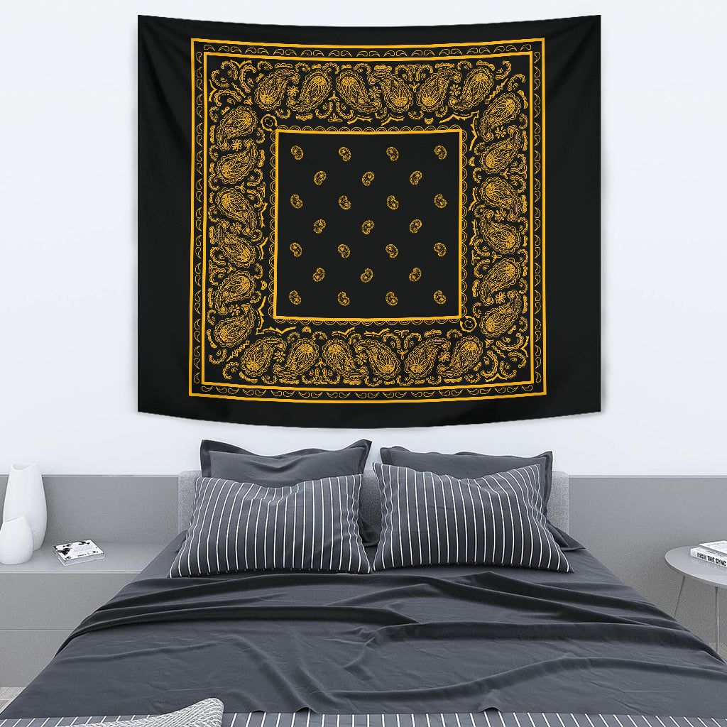 black and gold bandana decor