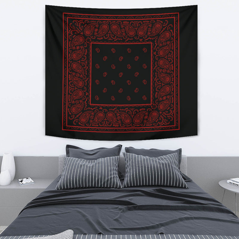 black and red bandana wall art