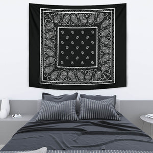 Black Bandana Wall Art Tapestry