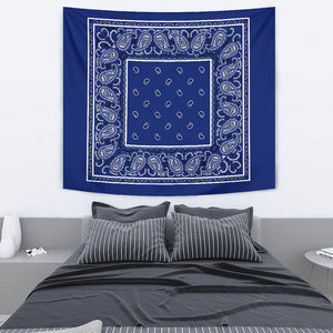 Royal Blue Bandana Tapestry Wall Art