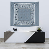 slate blue bandana wall art tapestry