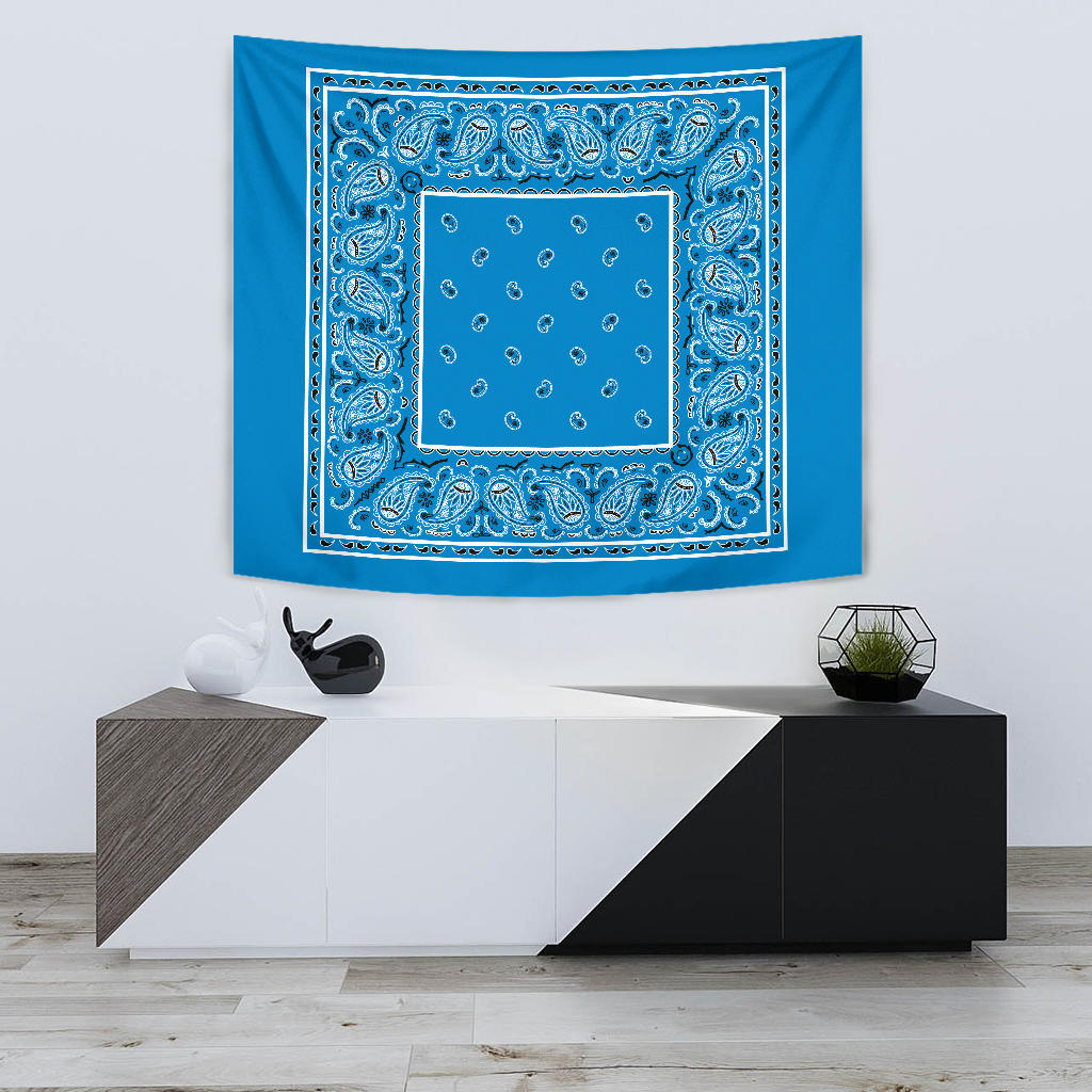 sky blue bandana wall art