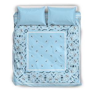 Light Blue Bandana Duvet Cover Set