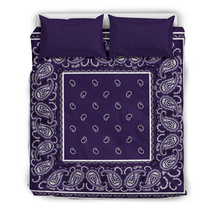 Royal Purple Bandana Duvet Set
