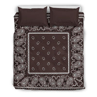 Queen Coffee Brown Duvet Cover Set