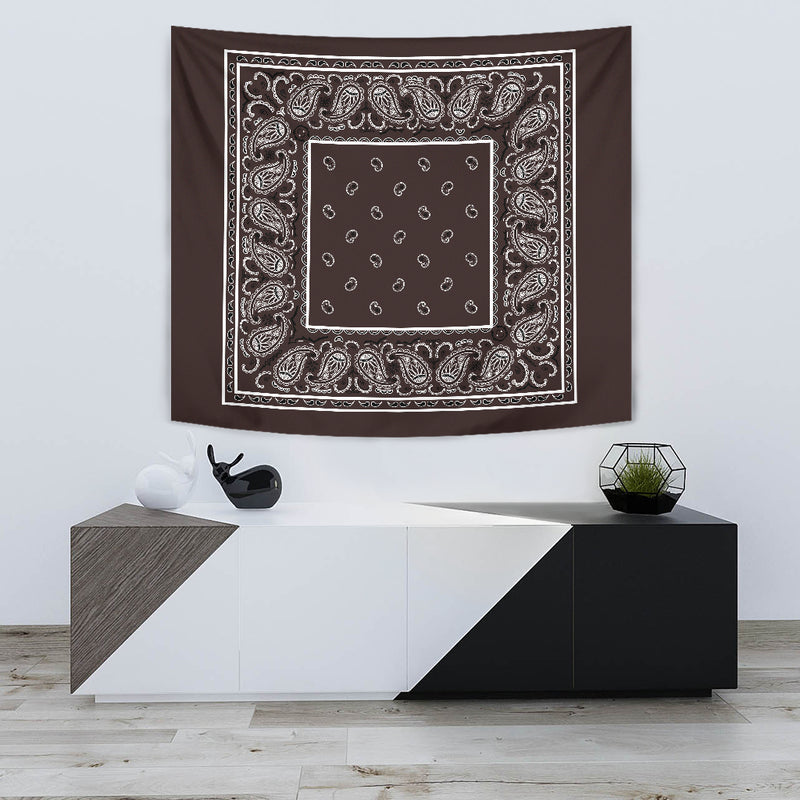 Brown Bandana Tapestries