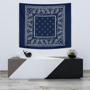 Navy Blue Bandana Tapestries