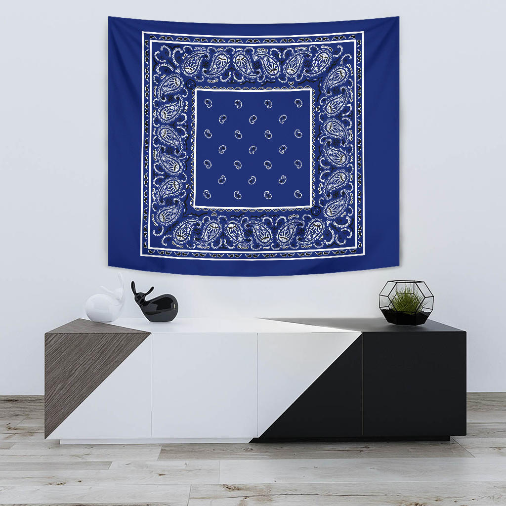 StreetTaps Royal Blue Bandana Tapestry