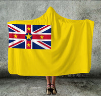 Niue Flag Hooded Blanket