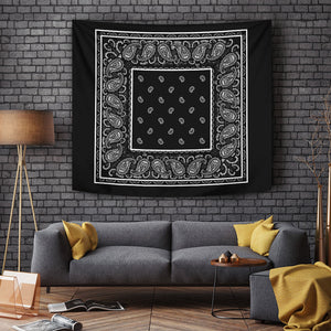 Black Bandana Tapestry