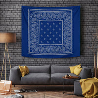 navy with gray wall art tapestry