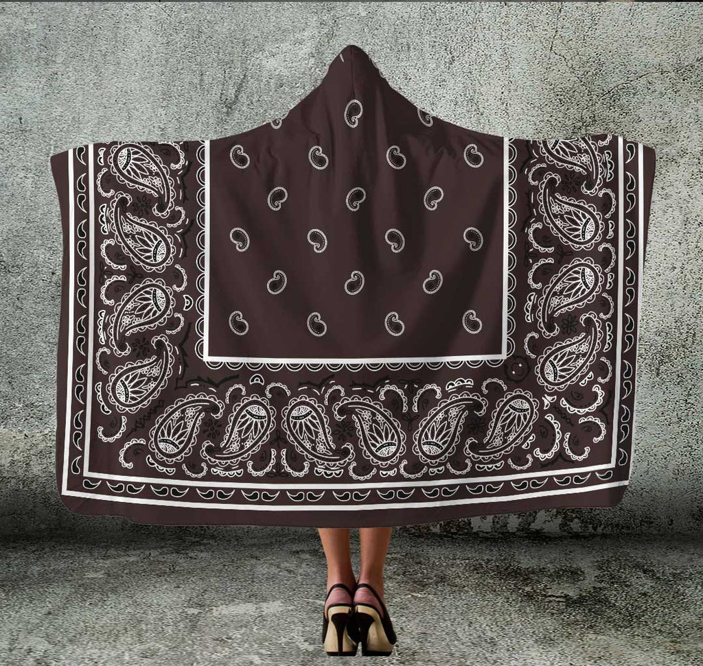 Ultimate Coffee Brown Bandana Hooded Blanket
