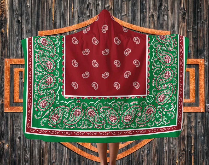 Ultimate Christmas Holiday Bandana Hooded Blanket