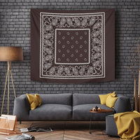 Brown Bandana Tapestry