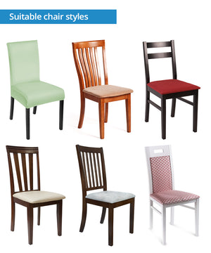 Classic Red Bandana Dining Chair Covers - 4 Patterns