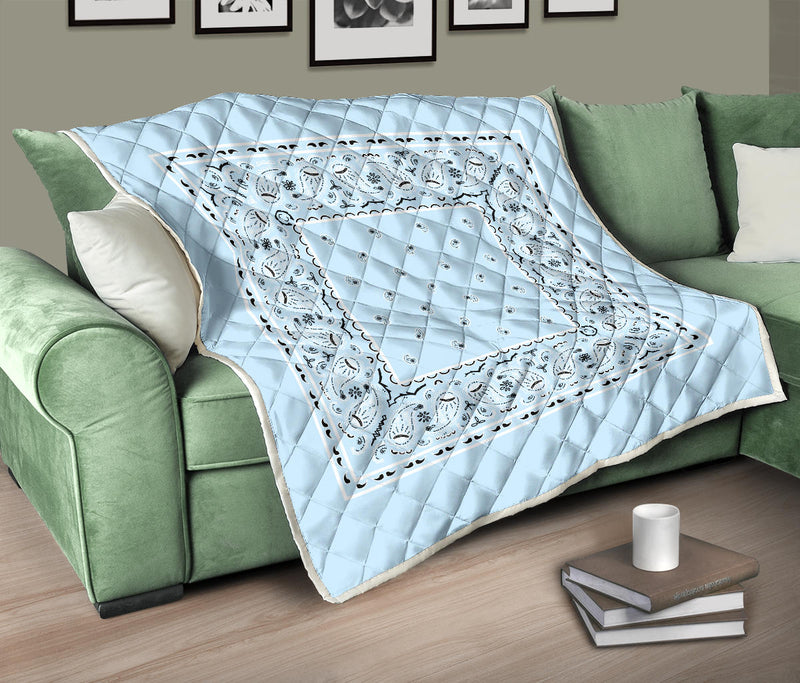 Light Blue Bandana Bedding