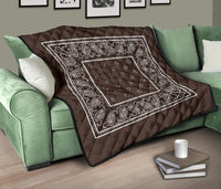 Brown Bandana Quilted Bedding