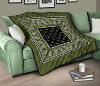 Army Green and Black Bandana Quilts