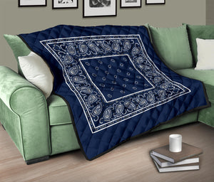 Navy Blue Bandana Quilts