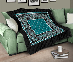 Peacock Teal Bandana Quilts