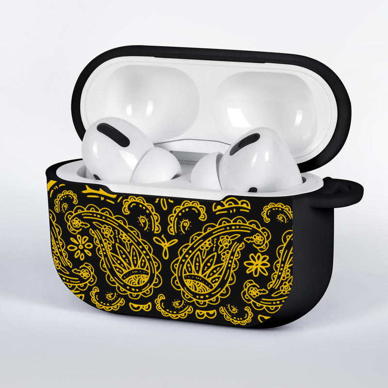 Black Gold Bandana AirPods Case Covers