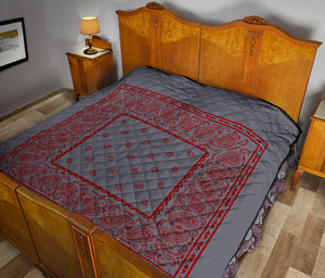 Gray and Red Bandana Quilts