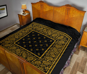 Black Gold Bandana Quilt